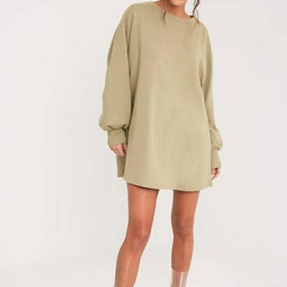 250fd65f976 Sage Green Oversized Sweater Dress